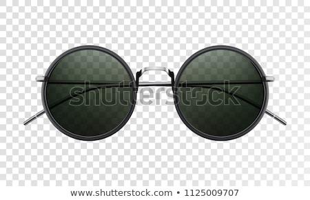 Klasszikus nap szemüveg asztal nyár fű Stock fotó © fotoedu