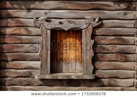 Abandonado cabina bosques ventana edificio Foto stock © Juhku