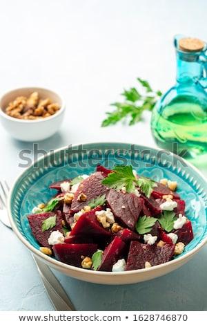 Nyers egészséges cékla organikus kész főzés Stock fotó © Klinker