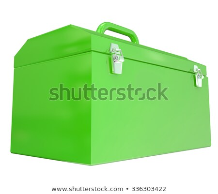 Green Metal Closed Toolbox Build Construction Project Stock photo © iqoncept