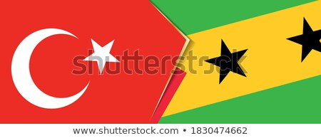 Turkey and Sao Tome and Principe Flags  Stock photo © Istanbul2009