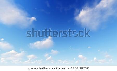 bulutlu · mavi · gökyüzü · soyut · 3d · illustration · küçücük · bulutlar - stok fotoğraf © teerawit