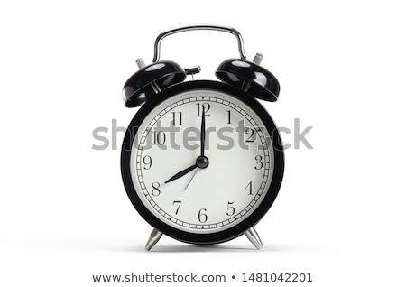 kırmızı · eski · stil · çalar · saat · yalıtılmış · beyaz - stok fotoğraf © pakete