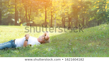Idős férfi égbolt boldog természet életstílus Stock fotó © Paha_L