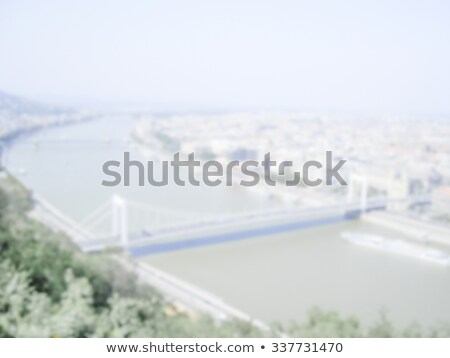 Defocused Background of aerial view of Budapest. Intentionally b Stock photo © marco_rubino