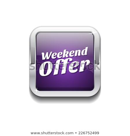 Sunday Offer Violet Vector Icon Design Stock photo © rizwanali3d
