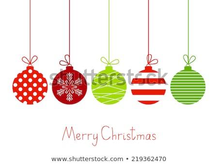 Christmas ornamenten Rood groene abstract ontwerp Stockfoto © x7vector