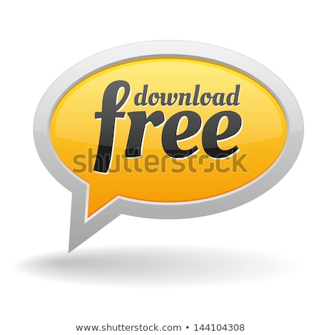 glossy download button speech bubble vector design elements for sale discounte neon light round stock photo © rommeo79