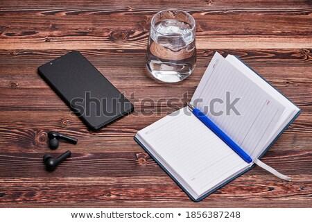 igazgató · tervező · jegyzet · citromsárga · toll · oktatás - stock fotó © cherezoff