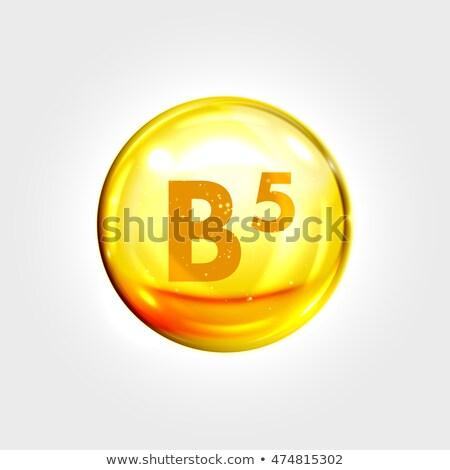 Vitamin B5 icon Stock photo © netkov1