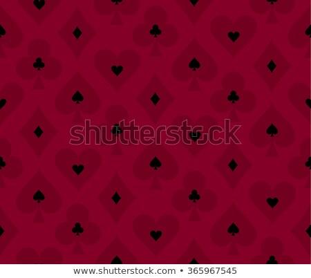 бесшовный красный покер прозрачный эффект простой Сток-фото © liliwhite