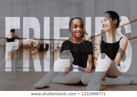 Bailarina ballet clase jóvenes mirando Foto stock © deandrobot