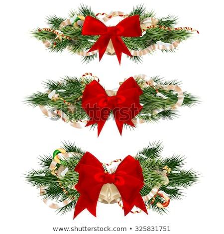 Noel · eps · 10 · kırmızı · sanat - stok fotoğraf © beholdereye