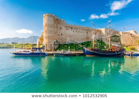 harbor view from kyrenia castle walls cyprus stock photo © kirill_m