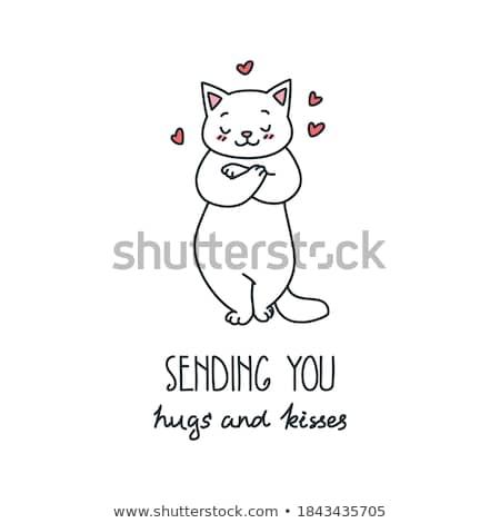 valentines day postcard template eps 8 stock photo © beholdereye