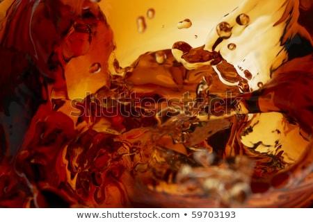 Whisky primer plano dos gafas rocas vidrio Foto stock © alex_l