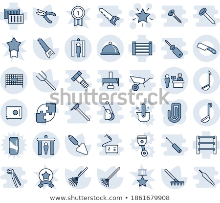 Saw, pruner and wrench. Stock photo © RAStudio