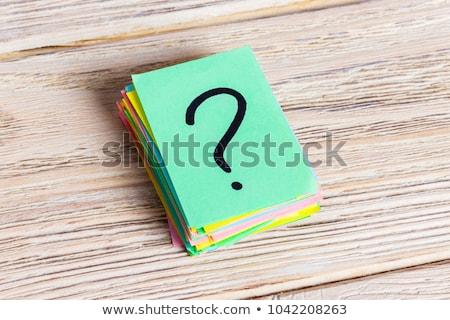 Question mark icon glossy black round button Stock photo © faysalfarhan