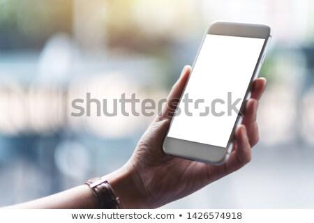 Kadın telefon genç bayan Stok fotoğraf © stockfrank
