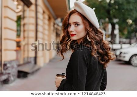 Romantic style photo of a cute brunette beauty Stock photo © konradbak