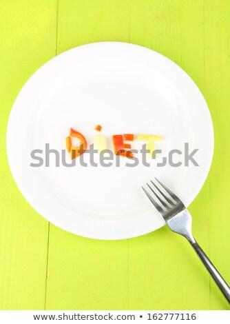 Költségvetés szó tányér fehér mágneses levelek Stock fotó © fuzzbones0