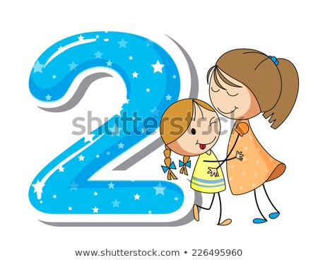 Flashcard number 2 with number and word Stock photo © bluering