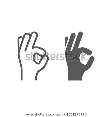 gombok · kezek · mutat · jóváhagyás · illusztráció · fehér - stock fotó © bluering