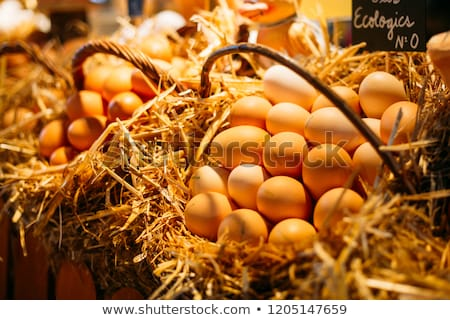 Healthy white farm fresh eggs  Stock photo © mady70