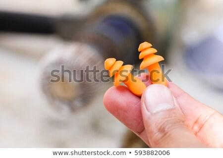 Par oído industrial segura plug contaminación Foto stock © dezign56