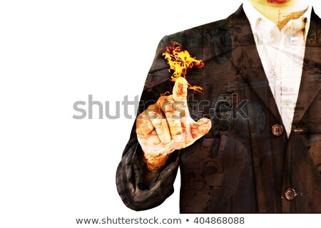 double exposure business man and door and railway Stock photo © bank215