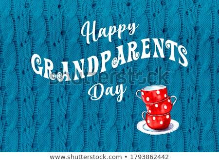 Glücklich Großeltern Tag Illustration Mann Großmutter Stock foto © adrenalina