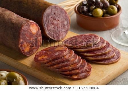 Iberian salchichon Stock photo © Digifoodstock