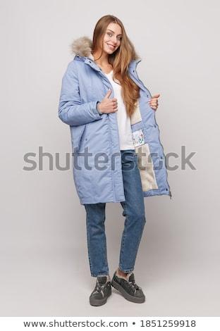 красивой · девушки · зима · пальто - Сток-фото © elnur