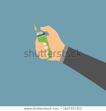 Accendino mano isolato nero fumo Palm Foto d'archivio © Serg64