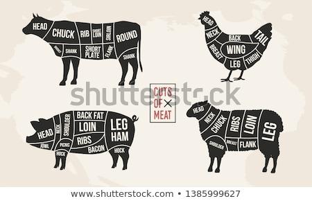 steak · vesepecsenye · hús · étel · pop · art · retro - stock fotó © andrei_