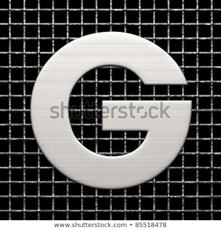 Metal mektup g 3D 3d render örnek Stok fotoğraf © djmilic
