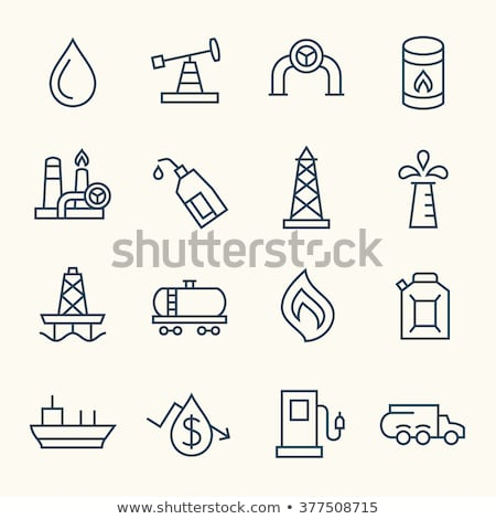 petroleum barrel line icon stock photo © rastudio