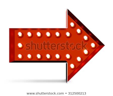 Vector marquee arrow symbo Stock photo © m_pavlov