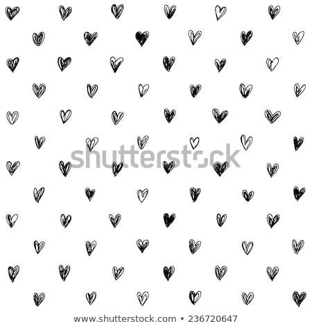 hand drawn hearts pattern stock photo © ivaleksa