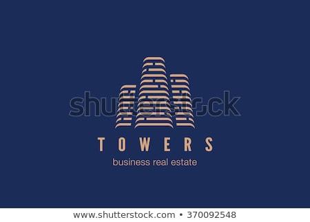 stylish skyscraper logo for real estate company stock photo © sarts