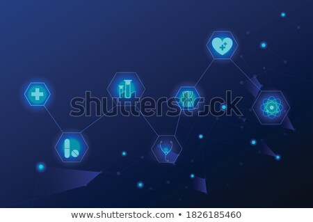 Brain heath care symbol Stock photo © Tefi