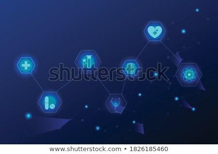 malattie · cardiache · medico · stetoscopio · ascolto · enorme · battito · cardiaco - foto d'archivio © tefi
