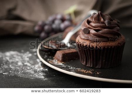 dark chocolate cupcakes stock photo © digifoodstock