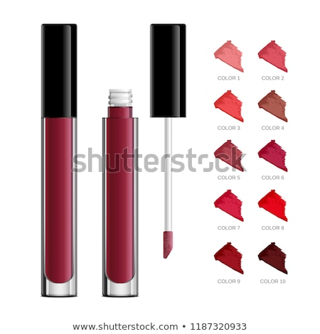 Lipstick realistic package set, isolated on white background. 3d collection of colored lipsticks, co Stock photo © lucia_fox