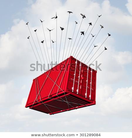 teher · szállítás · támogatás · kéz · tart · csoport - stock fotó © lightsource