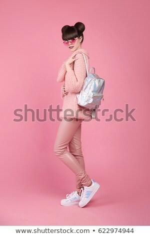 Mode stijl teen kijken modieus jong meisje Stockfoto © Victoria_Andreas