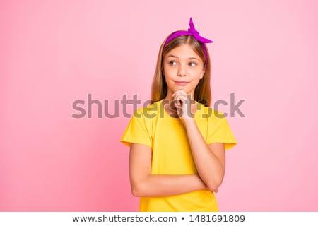 Pretty Teen Girl In Pink stock photo © dtiberio