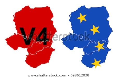 EU flag with Czech Republic country. European Union membership Czech Republic Stock photo © tkacchuk