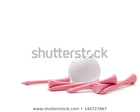 isolated pink golf ball on a white tee stock photo © njnightsky