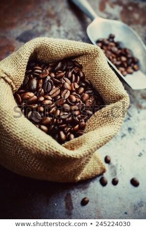 Elite koffiebonen groep cafe leven donkere Stockfoto © kayros